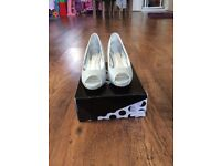 Silver Heeled Shoes size 5