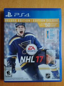 NHL 17 Deluxe Edition PS4 en parfait état