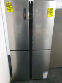 Silver hisense american style fridge freezer