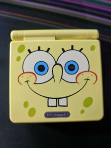 Gameboy Advanced SP Spongebob Edition - Comes with games