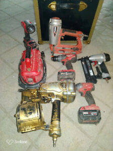 Milwaukee brushless drill and framing tools