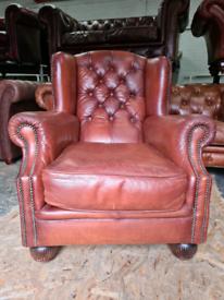 Tetrad Oskar Chesterfield Wingback Chair