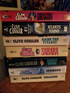Clive Cussler collection pb first ed!