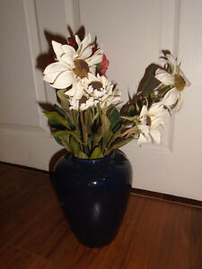 Beautiful blue vase , High 8 ½ inches $15
