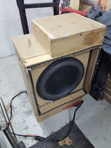 """RE 12"""" XXX subwoofer with competition box"""