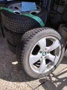 "Moving!  Must sell!  17"" BMW rims with winter tires.  225/50 R17"