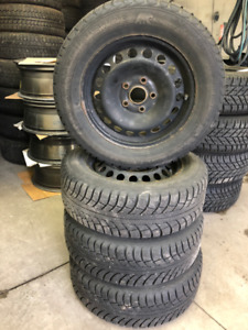 195/65/R16 VW Jetta Winter Tires on steel rims