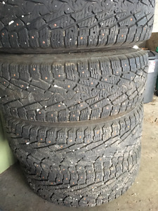 Nokian Hakkapeliitta LT2 Studded mounted on OEM 2007 Tacoma rims