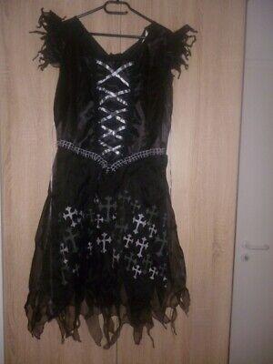 Hexenkostüm mit Zubehör - für Karneval und Halloween geeignet ()