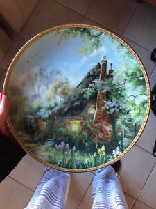 """Iris Cottage"" by Marty Bell Collector Plate"