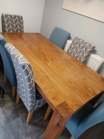 Barker and Stonehouse solid wood dining table, seats 6 180cm x 90cm