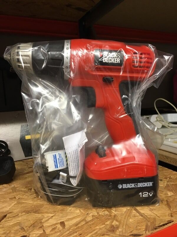 Black Amp Decker 12v Drill With Charger In Goole East