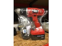 BLACK & DECKER 12V Drill with Charger