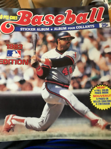 1983 O Pee Chee Baseball Sticker Book
