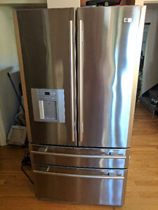 20.6 Cubic Foot  French door Bottom Mount Stainless Steel