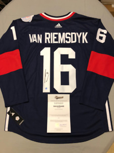 Signed Licensed NHL Jersey with COA: Team USA -  J. VAN RIEMSDYK