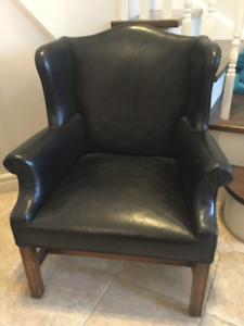 Genuine leather children's (kids) wing chair