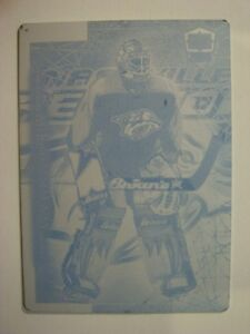 1999-00 Pacific Dynagon Ice #106 MIKE DUNHAM Printing Plate RARE