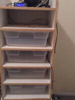 28 qt 5 bin snake rack + heat tape
