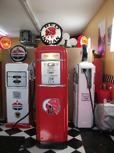 1950's Gilbarco Red Indian 6'  pompe a essence gas pump
