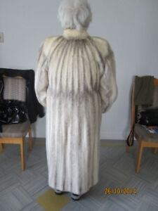 White & Silver Mink Coat