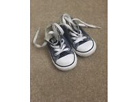 Navy converse trainers infant size 7