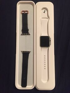 Apple Watch, 38mm, WITH EXTRAS.