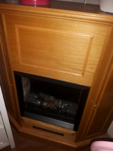 Electric corner fireplace for sale