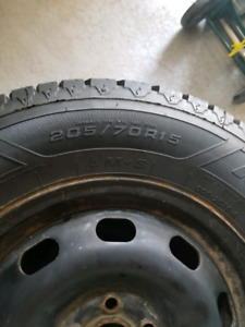 4 Goodyear Nordic Winter Tires 205/70R15