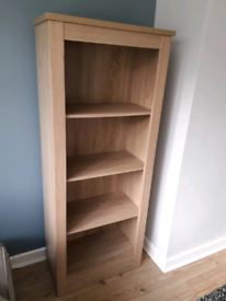 Light oak bookcase