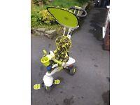 Smart trike in lime green