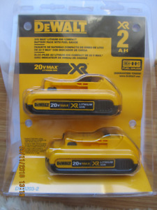 DEWALT XR 20V MAX LITHIUM BATTERY PACK - 2AH