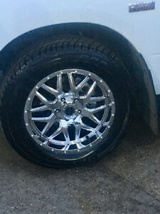 20 inch American racing chrome 275/60R20