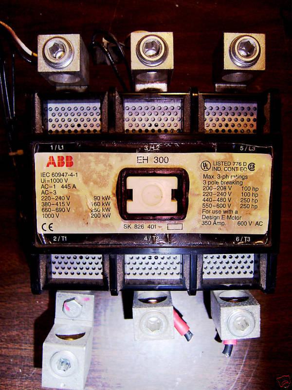 ABB EH 300 CONTACTOR 120V COIL