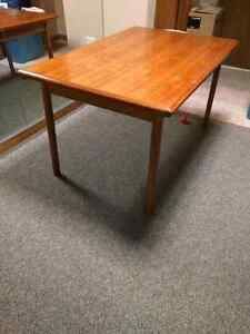Teak extendible dining table (no chairs)