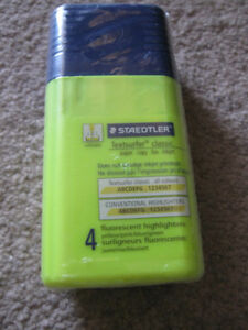 Staedtler Textsurfers Container of 4-New and sealed + more