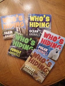 Who's Hiding - Animals series lift-a-flap books