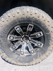 "18""metal mulisha rims and tires"