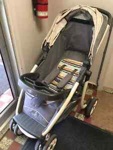 Stroller, Car Seat and Base.