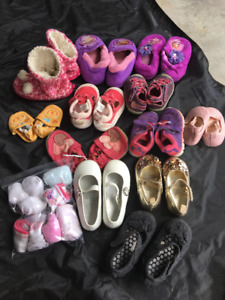 Socks & 12 Pairs of Baby/Toddler shoes- size newborn to size 7