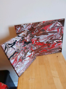 Two modern, hand painted, paintings!