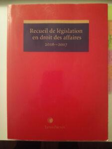RECUEIL DE LEGISLATION EN DROIT DES AFFAIRES - LEXISNEXIS