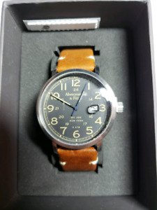 NEW Men's Abercrombie & Fitch A&F Brown Leather Strap Watch