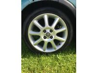 4 x corsa c alloys with tyres