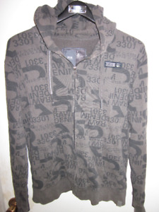 AUTHENTIC MENS G-STAR GRAPHIC LOGO HOODIE SIZE LARGE SLIM FIT