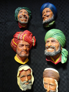 Hand Painted Bosson Heads $20 Small $30 Large each or offers