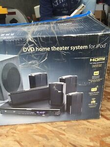 Home surround sound and DVDs player.