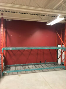 Industrial Pallet Racking. $150 per section 4 sections avail.