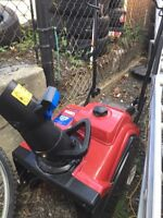 """Toro snow-thrower, power clear 180. 87 cc 4-cycle ohv 18"""" width"""