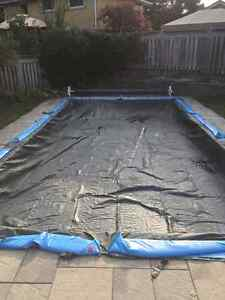 Winter tarp for 32x16 rectangle pool Cambridge Kitchener Area image 2